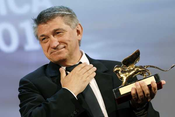 "Sokurov, director of ""Faust"", receives the Golden Lion award during the closing ceremony of the 68th Venice Film Festival"
